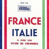65 anni fa. Francia-Italia 1-3 – Le immagini